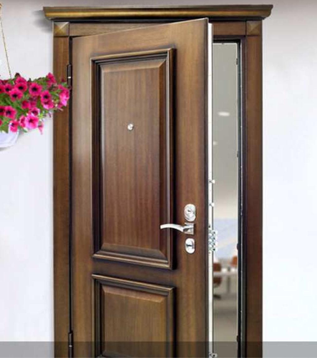 новинки входных дверей отделка